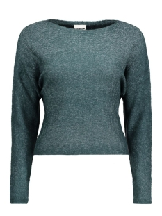 Noisy may Trui NMMILES L/S BOATNECK KNIT 10156507 Reflecting Pond
