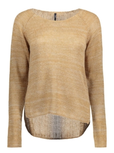 onlCHEEKY L/S PULLOVER KNT RP 15120922 Tabacco Brown/W. Simply