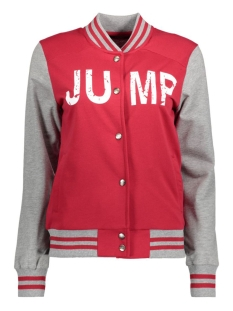 Only Vest onlJUMP L/S BUTTON SWT 15134484 Jester Red/Lgm Sleeve