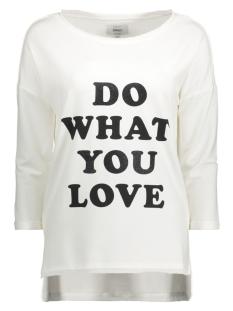 Only T-shirt onlCLARA 3/4 ONECK PRINT BOX SWT 15128698 Cloud Dancer/Love