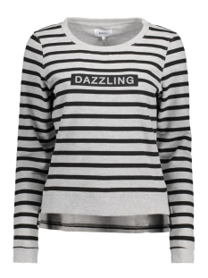 onlDAZZLING MICKA L/S O-NECK SWT 15135896 Light Grey Melange