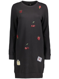 onlCALLY L/S PATCHES DRESS SWT 15136485 Black