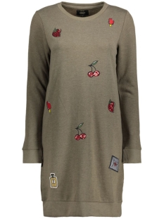 onlCALLY L/S PATCHES DRESS SWT 15136485 Tarmac