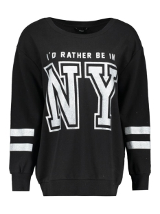 Only Sweater onlRATHER BE IN NY L/S SWEAT JRS 15135275 Black
