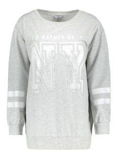 Only Sweater onlRATHER BE IN NY L/S SWEAT JRS 15135275 Light Grey Melange