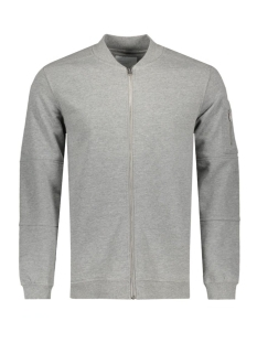 JCOPETE SWEAT ZIP BASEBALL NECK NOOS 12119060 Light Grey Mela