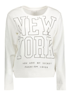 Jacqueline de Yong Sweater JDYDANDY L/S PRINT SWEAT SWT 15131870 Cloud Dancer/New York