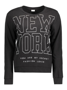 Jacqueline de Yong Sweater JDYDANDY L/S PRINT SWEAT SWT 15131870 Black/New York