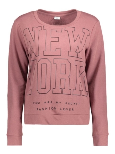 Jacqueline de Yong Sweater JDYDANDY L/S PRINT SWEAT SWT 15131870 Rose Brown/New York