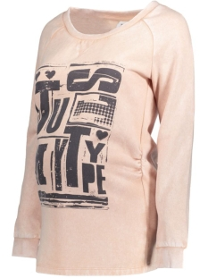 Mama-Licious Positie trui MLMONRADA L/S SWEAT TOP 20006774 Misty Rose