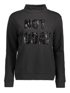 JDYPALLIE L/S PRINT SWEAT SWT 15133693 Black