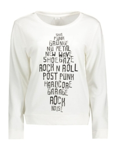 Jacqueline de Yong Sweater JDYMILLY L/S PRINT SWEAT SWT 15127215 Cloud Dancer/Grunge
