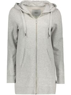 Only Vest onlCALM L/S ZIP HOOD LONG SWT 15128774 Light Grey Melange