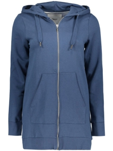 onlCALM L/S ZIP HOOD LONG SWT 15128774 Ensign Blue
