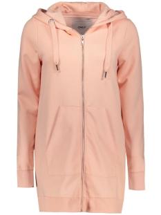 Only Vest onlCALM L/S ZIP HOOD LONG SWT 15128774 Peachy Keen