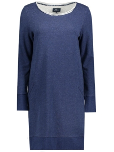 Only Jurk onlINGOLF L/S DRESS SWT Dark Blue Denim