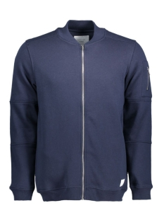 JCOPETE SWEAT ZIP BASEBALL NECK NOOS 12119060 Navy Blazer