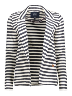 onlSIAN L/S BLAZER SWT 15128807 Cloud Dancer/Blauw