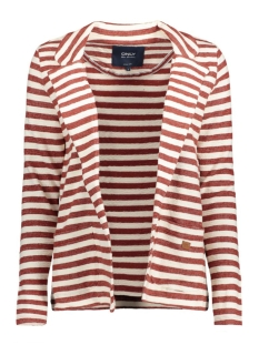 onlSIAN L/S BLAZER SWT 15128807 Cloud Dancer/Rood