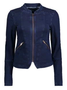 Only Blazer onlJODIE L/S BIKER JACKET SWT 15128790 Dark Blue Denim