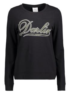 Vero Moda Sweater VMDARLIN PRINT L/S SWEAT D2-1 10171825 Black/Ivy Green