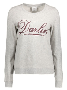 Vero Moda Sweater VMDARLIN PRINT L/S SWEAT D2-1 10171825 Light grey melange