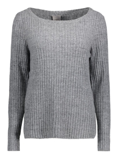 Vero Moda Trui VMNANNY LS BOATNECK BLOUSE 10166415 Light grey melange