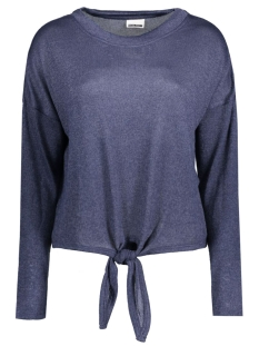 NMMANGO L/S O-NECK TIE UP KNIT 10166547 Ombre Blue