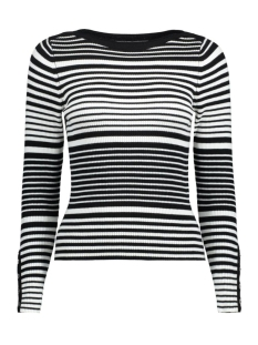 onlMODENA L/S RIB PULLOVER KNT 15130012 Cloud Dancer/ W. Black