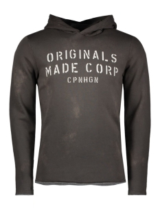 Jack & Jones Sweater JORSTENCIL SWEAT HOOD 12113655 Raven
