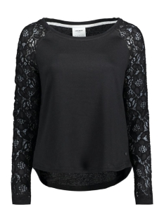 VMBELINA LS MIX TOP DNM SWT A 10166903 Black/W. Tone To