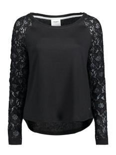 Vero Moda Sweater VMBELINA LS MIX TOP DNM SWT A 10166903 Black/W. Tone To
