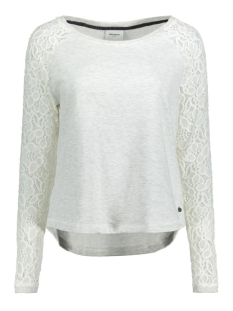 VMBELINA LS MIX TOP DNM SWT A 10166903 Oatmeal/ in Melange