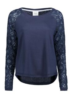 Vero Moda Sweater VMBELINA LS MIX TOP DNM SWT A 10166903 Navy Blazer/W. Tone To