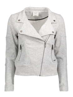 Vero Moda Vest VMSOFILINA LS BIKER SWEAT JACKET DNM 10167366 Light grey melange