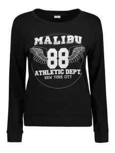 Jacqueline de Yong Sweater JDYMILLY L/S PRINT SWEAT SWT 15127216 Black/Malibu