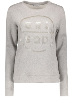 onlOILY FOIL CREWNECK SWEAT BOX JRS 15135870 Light Grey Melange