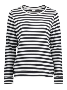 Jacqueline de Yong Sweater JDYLEXUS L/S STRIPE SWEAT SWT 15126208 Cloud Dancer/Dark Navy