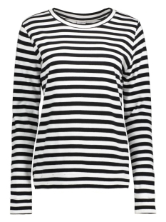 Jacqueline de Yong Sweater JDYLEXUS L/S STRIPE SWEAT SWT 15126208 Black/Cloud Dancer