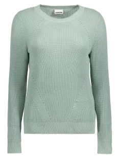 Noisy may Trui NMSIAN L/S O-NECK KNIT TOP 10166969 Blue Surf