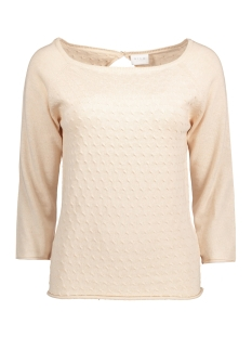 Vila Trui VICOTANA 3/4 SLEEVE KNIT TOP 14038426 Shifting Sand