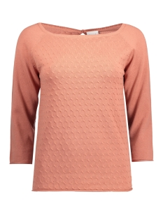 Vila Trui VICOTANA 3/4 SLEEVE KNIT TOP 14038426 Rose Dawn