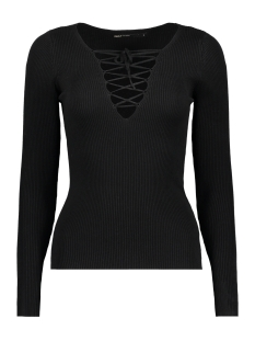 Only Trui onlJOSEPHINA L/S LACE UP PULLOVER 15130686 Black
