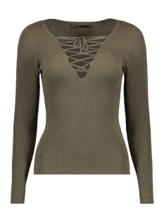 Only Trui onlJOSEPHINA L/S LACE UP PULLOVER 15130686 Kalamata