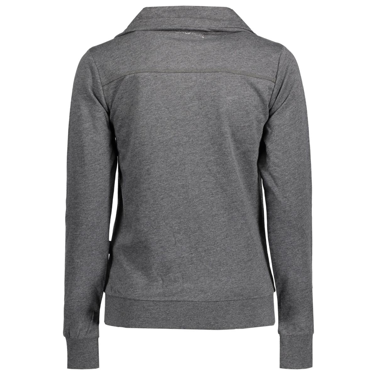 onplina high neck sweat - opus 15108841 only play sport vest dark grey melange