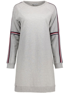 Only Jurk onlRIBBON L/S SWEAT DRESS JRS 15135873 Light grey melange