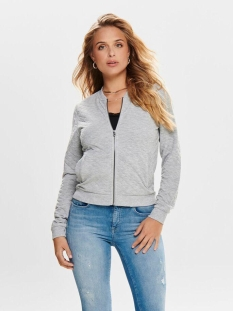 onljoyce ls bomber noos 15131550 only vest light grey melange