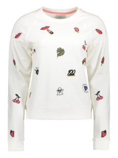Only Sweater onlCONVERSATION EMBROIDERY PRINT BO 15132740 Cloud Dancer