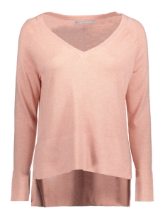 Only Trui onlPHILU L/S V-NECK PULLOVER KNT NO 15129376 Peachy Keen/W. Melange