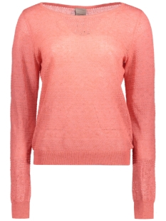 VMTULLE LS BOATNECK BLOUSE A 10169811 Giorgia Peach